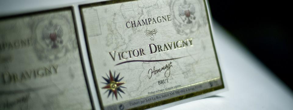 Imprimerie des Docks - Etiquette Champagne Hommage